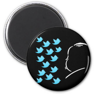 Hitch and Tweets Refrigerator Magnets