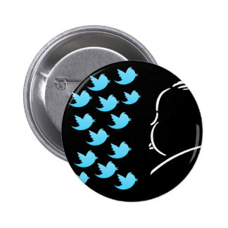 Hitch and Tweets Pinback Button