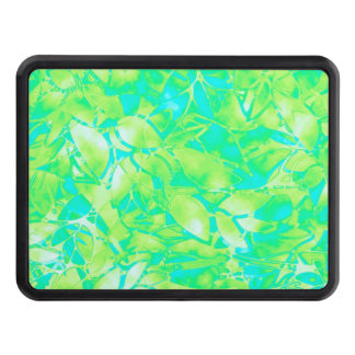 Hitch Cover Grunge Art Floral Abstract