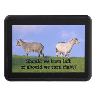 "HITCH COVER, TWO OPPOSITE FACING GOATS, ""SHOULD WE HITCH COVER"