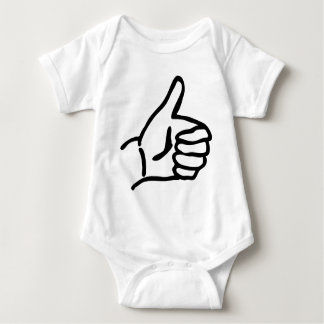 hitch-hike icon baby bodysuit