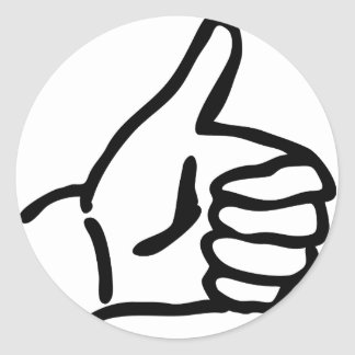 hitch-hike icon classic round sticker