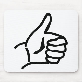 hitch-hike icon mouse pad