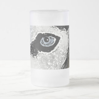 Hitch the Husky 16 Oz Frosted Glass Beer Mug