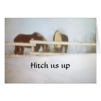 HITCH US UP TO WISH MERRY CHRISTMAS CARD