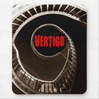 Hitchcock-esque Vertigo Dark Circular Stairwell Mouse Pad