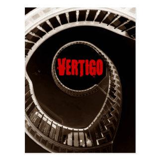 Hitchcock-esque Vertigo Dark Circular Stairwell Postcard