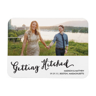 Hitched 2 | Save the Date Magnet