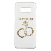 Hitched Romantic Gold Rings Wedding Case-Mate Samsung Galaxy S8 Case