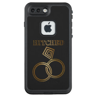 Hitched Romantic Gold Rings Wedding LifeProof FRĒ iPhone 7 Plus Case