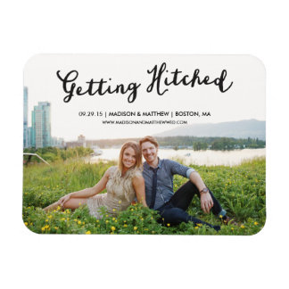 Hitched | Save the Date Magnet