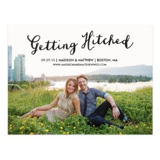 Hitched | Save the Date Postcard