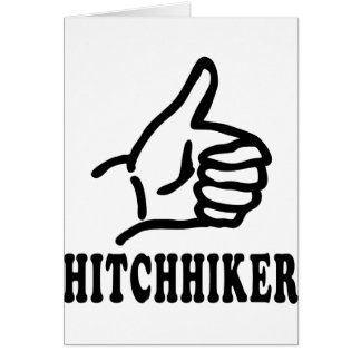 hitchhiker icon card