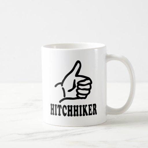 hitchhiker icon coffee mug