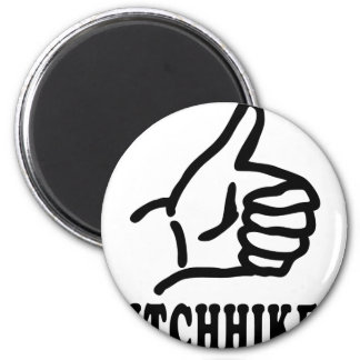 hitchhiker icon magnet