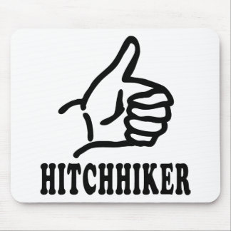 hitchhiker icon mouse pad