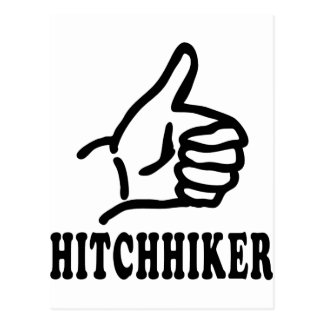 hitchhiker icon postcard
