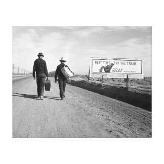 Hitchhikers, 1937 canvas print
