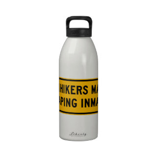 Hitchhikers Might Be Escaping,Traffic Sign, USA Reusable Water Bottles