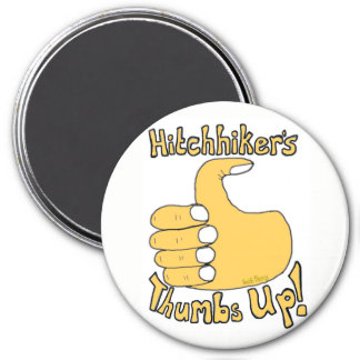Hitchhiker's Thumbs Up Funny Cartoon Magnet