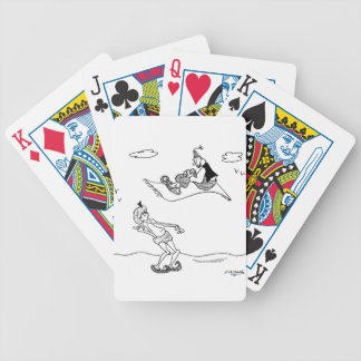 Hitchhiking Cartoon 1636 Bicycle Playing Cards