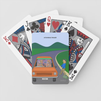 Hitchhiking Danger Playing Cards