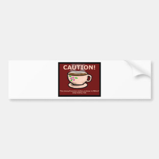 Hitchiker's Guide Hot Tea Bumper Sticker