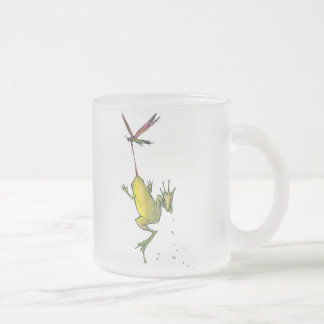 Hitchin' a Ride Frosted Glass Coffee Mug