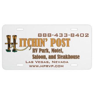 Hitchin' Post RV Park Las Vegas License Plate