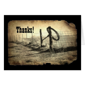 Hitching Post Thank-You Note Card