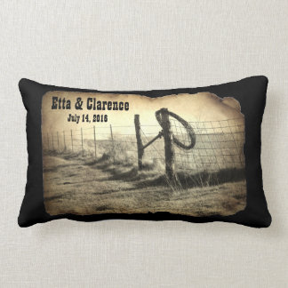 Hitching Post Wedding Commemorative Pillow