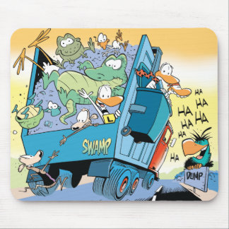 Hitching The Swamp Dump Truck Mouse Pad