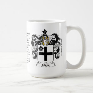 Hite, the Origin, the Meaning and the Crest Classic White Coffee Mug