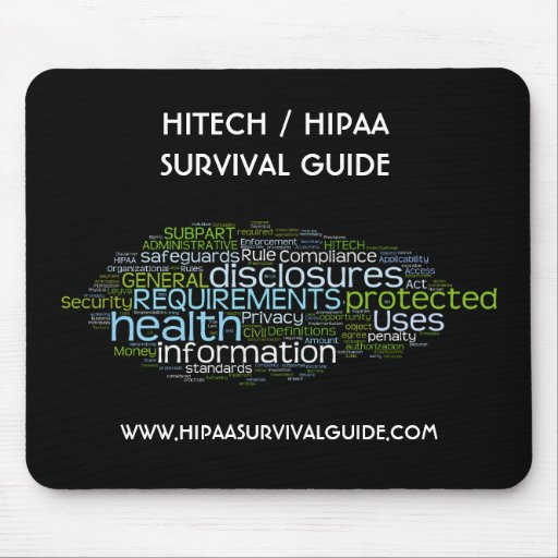 HITECH / HIPAA SURVIVAL GUIDE MOUSE PADS