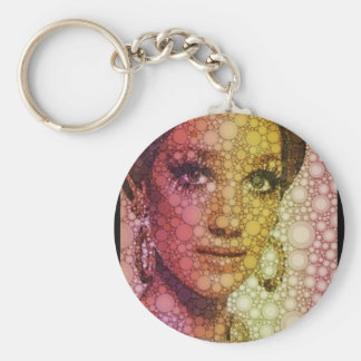Hits of the seventies basic round button keychain