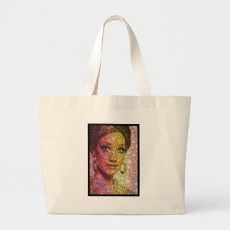 Hits of the seventies large tote bag