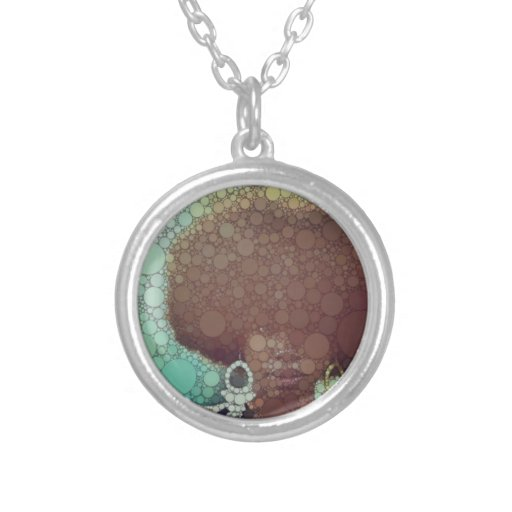 Hits of the seventies round pendant necklace