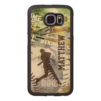 Hitter Bottom of the 9th Baseball Wood Phone Case