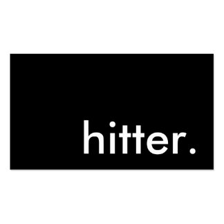 hitter. Double-Sided standard business cards (Pack of 100)