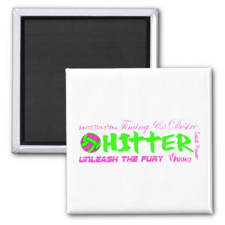 Hitter Traits 2 Inch Square Magnet