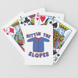 Hittin Slopes Bicycle Playing Cards