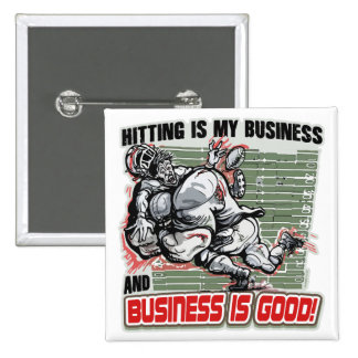 Hitting is My Business by Mudge Studios 2 Inch Square Button