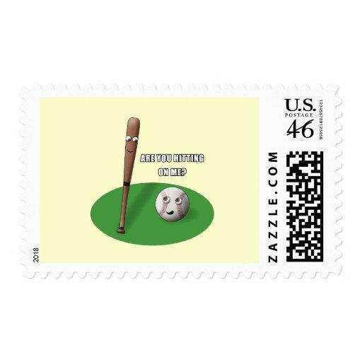 Hitting on Me Postage Stamp