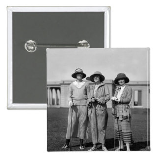 Hitting the Links in Style: 1923 2 Inch Square Button