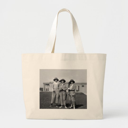 Hitting the Links in Style: 1923 Large Tote Bag