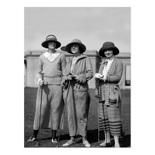 Hitting the Links in Style: 1923 Postcard