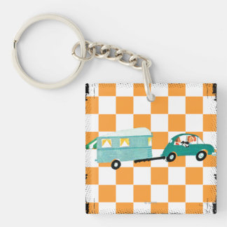 Hitting the Open Road 1 Keychain