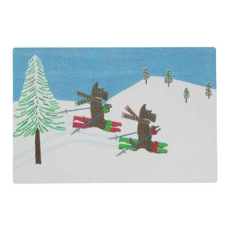 HITTING THE SLOPES PLACEMAT