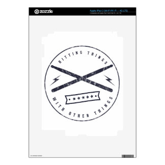 hitting things decal for iPad 3