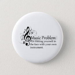 Hitting yourself in the face pinback button